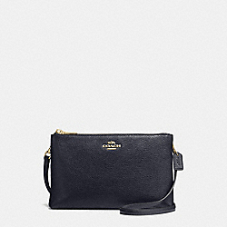LYLA CROSSBODY IN PEBBLE LEATHER - f38273 - IMITATION GOLD/MIDNIGHT