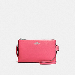 LYLA CROSSBODY IN PEBBLE LEATHER - f38273 - SILVER/STRAWBERRY