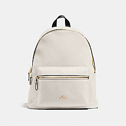CHARLIE BACKPACK IN PEBBLE LEATHER - f38288 - IMITATION GOLD/CHALK