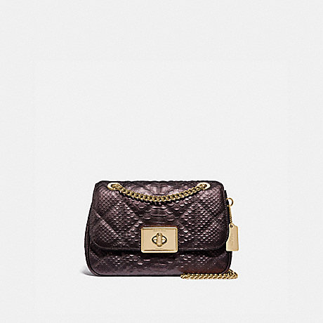 COACH CASSIDY CROSSBODY WITH QUILTING - OXBLOOD 1/LIGHT GOLD - F38340