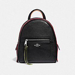 ANDI BACKPACK - BLACK/MULTI/SILVER - COACH F38348