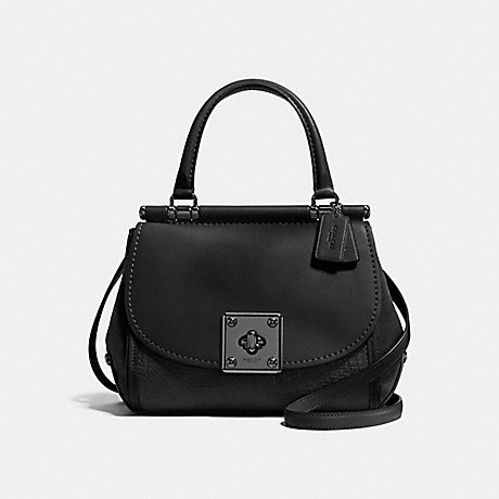 COACH DRIFTER TOP HANDLE - MATTE BLACK/BLACK - f38388