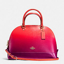 SIERRA SATCHEL IN OMBRE LEATHER - f38397 - IMITATION GOLD/WATERMELON