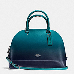 COACH SIERRA SATCHEL IN OMBRE LEATHER - BLACK ANTIQUE NICKEL/ATLANTIC - F38397