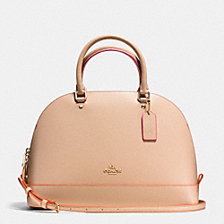 COACH SIERRA SATCHEL IN MULTI EDGEPAINT LEATHER - IMITATION GOLD/BEECHWOOD MULTI - F38404