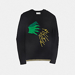 WICKED WITCH SWEATER - BLACK - COACH F38594