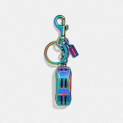 CAR KEY RING - BLACK MULTI/BLACK ANTIQUE NICKEL - COACH F38610