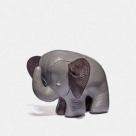 COACH ELEPHANT PAPERWEIGHT - HEATHER GREY/BLACK ANTIQUE NICKEL - F38617