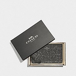 BOXED SMALL WRISTLET WITH STAR GLITTER - BLACK/SILVER - COACH F38641