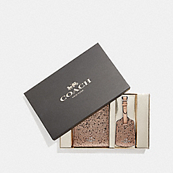 BOXED TRAVEL SET WITH STAR GLITTER - GOLD/SILVER - COACH F38644