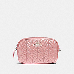 CONVERTIBLE BELT BAG WITH QUILTING - SV/PETAL - COACH F38678