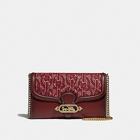 COACH CHAIN CROSSBODY WITH CHAIN PRINT - CLARET/LIGHT GOLD - F38685