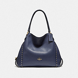 EDIE SHOULDER BAG 31 WITH RIVETS - B4/CADET - COACH F38720