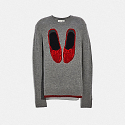 RUBY SLIPPERS SWEATER - GREY - COACH F38726