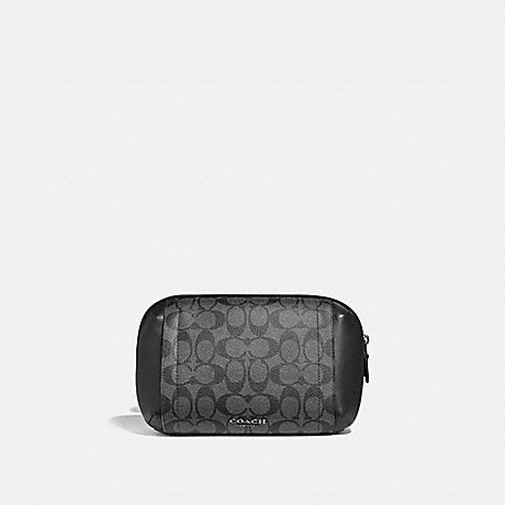 COACH GRAHAM UTILITY PACK IN SIGNATURE CANVAS - CHARCOAL/BLACK/BLACK ANTIQUE NICKEL - F38749