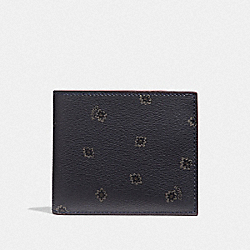 3-IN-1 WALLET WITH SPIKY DIAMOND PRINT - MIDNIGHT NAVY MULTI/BLACK ANTIQUE NICKEL - COACH F38835