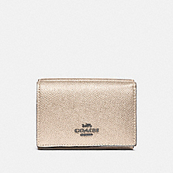 SMALL FLAP WALLET IN COLORBLOCK - PLATINUM MULTI/GUNMETAL - COACH F38871