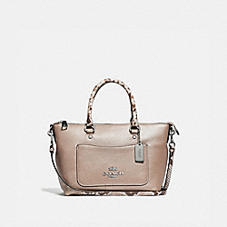 MINI EMMA SATCHEL - PLATINUM/SILVER - COACH F38877