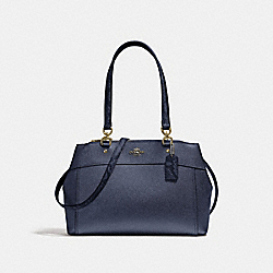 BROOKE CARRYALL - METALLIC DENIM/LIGHT GOLD - COACH F38880