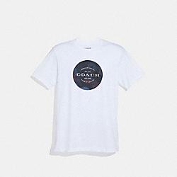 MIXED CAMO T-SHIRT - WHITE/NAVY/OXBLOOD - COACH F38885