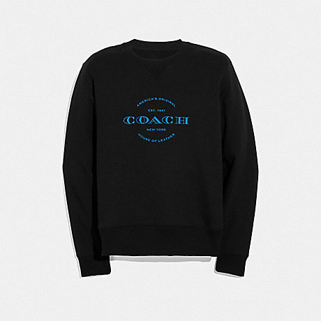 COACH NEON SWEATSHIRT - BLACK - F38888