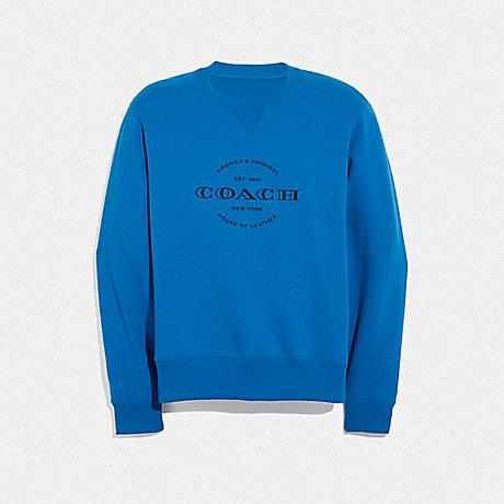COACH NEON SWEATSHIRT - NEON BLUE - F38888