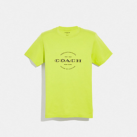 COACH NEON T-SHIRT - NEON YELLOW - F38889