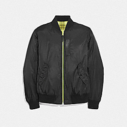 REVERSIBLE LIGHTWEIGHT MA-1 JACKET - BLACK - COACH F38890