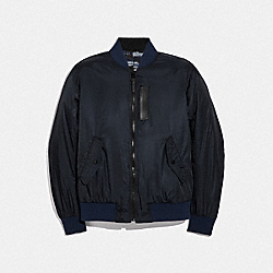 REVERSIBLE LIGHTWEIGHT MA-1 JACKET - SPRING NAVY - COACH F38890