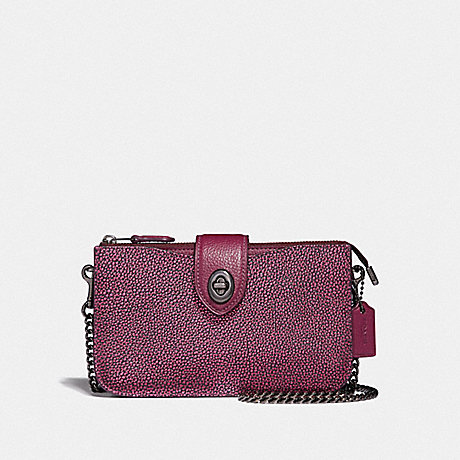 COACH TURNLOCK CROSSBODY IN COLORBLOCK - METALLIC BERRY MULTI/GUNMETAL - F38934