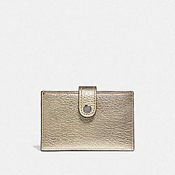 ACCORDION CARD CASE IN COLORBLOCK - PLATINUM MULTI/GUNMETAL - COACH F38936