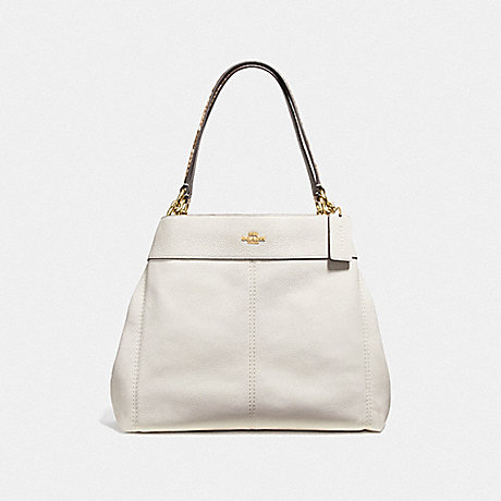 COACH LEXY SHOULDER BAG - CHALK/NEUTRAL/LIGHT GOLD - F38991