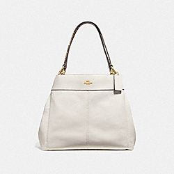 LEXY SHOULDER BAG - CHALK/NEUTRAL/LIGHT GOLD - COACH F38991