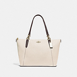 AVA TOTE - CHALK/NEUTRAL/LIGHT GOLD - COACH F38993