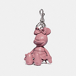 MINNIE MOUSE DOLL BAG CHARM - ROSE/SILVER - COACH F39004