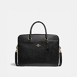 LAPTOP BAG - BLACK/LIGHT GOLD - COACH F39022