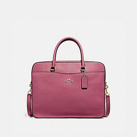 COACH LAPTOP BAG - ROUGE/GOLD - F39022