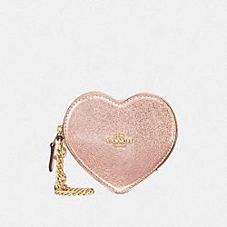 HEART COIN CASE - ROSE GOLD/LIGHT GOLD - COACH F39068