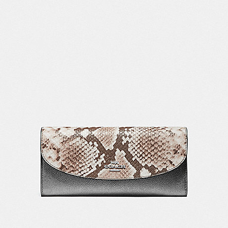 COACH SLIM ENVELOPE WALLET - GUNMETAL/SILVER - F39083