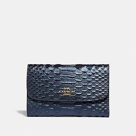 COACH MEDIUM ENVELOPE WALLET - METALLIC DENIM/LIGHT GOLD - F39114