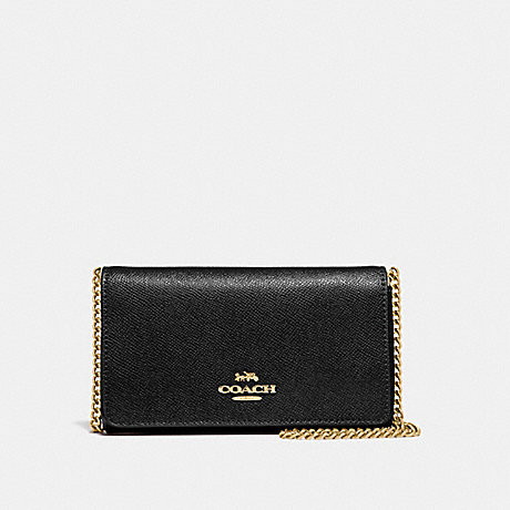 COACH DRESSY CROSSBODY - BLACK/LIGHT GOLD - F39126