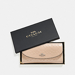 BOXED SLIM ENVELOPE WALLET IN SIGNATURE LEATHER - PLATINUM/SILVER - COACH F39134