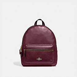 MEDIUM CHARLIE BACKPACK - IM/METALLIC WINE - COACH F39196