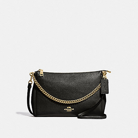 COACH CARRIE CROSSBODY - BLACK/LIGHT GOLD - F39206
