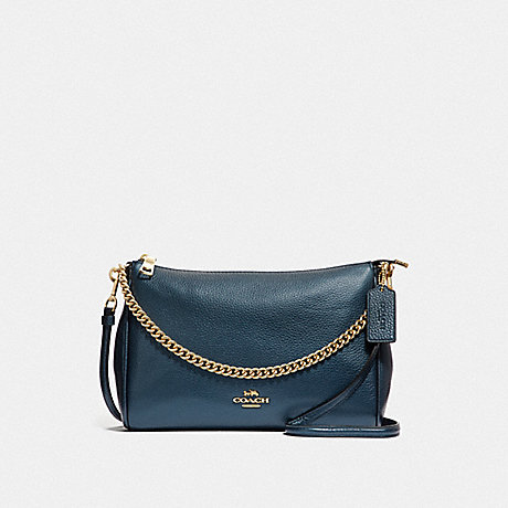 COACH CARRIE CROSSBODY - METALLIC DENIM/LIGHT GOLD - F39207