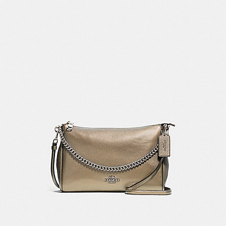 COACH CARRIE CROSSBODY - PLATINUM/SILVER - F39207