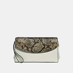 FLAP CLUTCH - CHALK/NEUTRAL/LIGHT GOLD - COACH F39219
