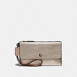 SMALL TRIPLE WRISTLET IN COLORBLOCK - GM/PLATINUM MULTI - COACH F39250