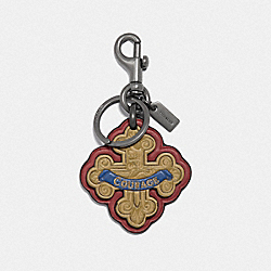 LION COURAGE BAG CHARM - RED MULTI/BLACK ANTIQUE NICKEL - COACH F39275