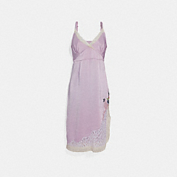 SELENA SLIP DRESS - PALE LILAC - COACH F39282
